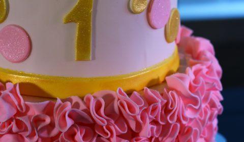 1st Birthday Ruffle Cake